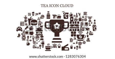 tea icon set. 93 filled tea icons. Simple modern icons about  - Cup, Juice, Coffee, Soda, Kettle, Drink, Stapler, Samurai, Thermo, Coffee shop, India, Sushi, French press, Porcelain