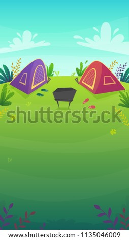 2 tent at forest rest camping