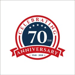 70 th Anniversary celebrations emblems vector , anniversary template design for web, game ,Creative poster, booklet, leaflet, flyer, magazine, invitation card and other us