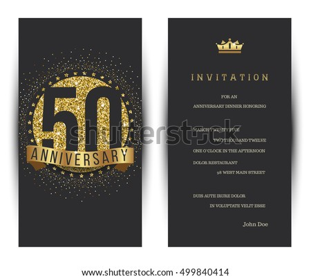 18 years anniversary invitation download free vector art stock 50th anniversary decorated greeting card template stopboris Images