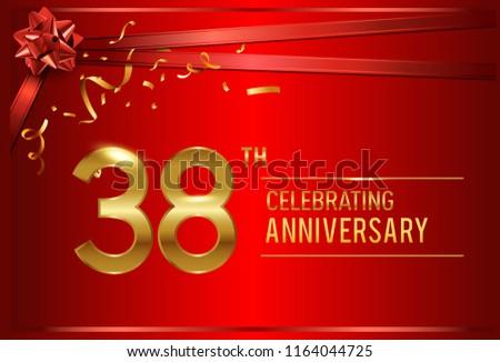 38th anniversary design