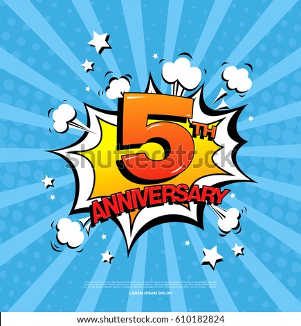 5th anniversary emblem five