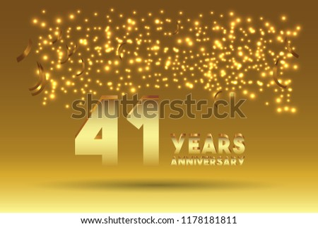 41th Anniversary gold numbers. background for anniversary #1178181811