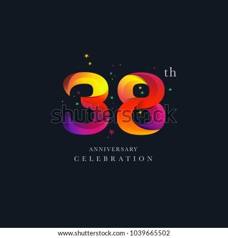 38th anniversary logo design