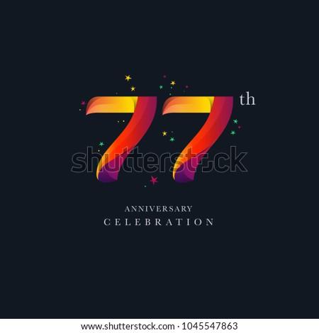 77th anniversary logo design