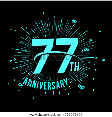 77 th anniversary logo with