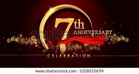 Simple anniversary card vector download free vector art stock