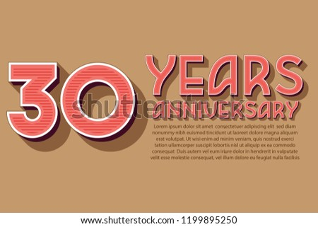 30th Anniversary numbers. background for anniversary #1199895250