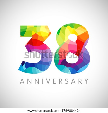 38th anniversary numbers 38