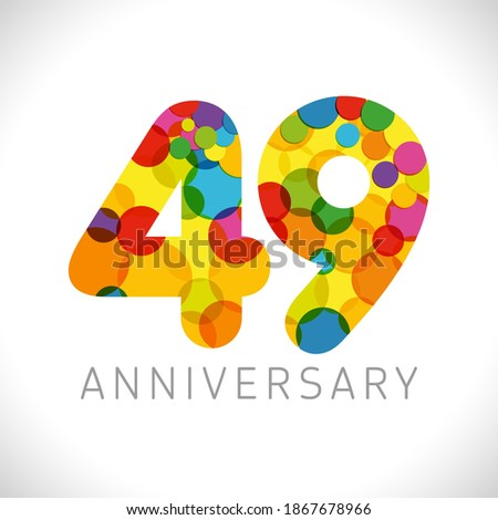 49 th anniversary numbers 49
