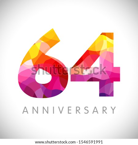 64 th anniversary numbers 64