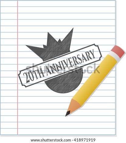 20th Anniversary pencil draw