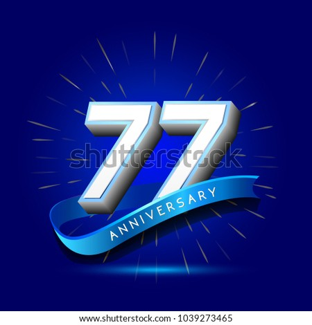 77th anniversary with ribbon