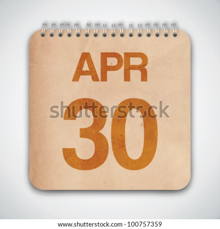 30 th April on Old Paper Vector