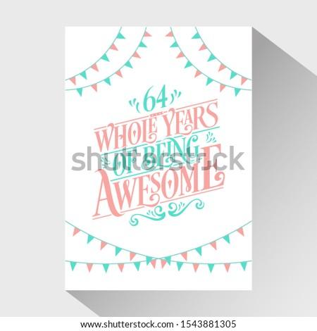 64th birthday and 64th wedding