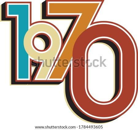 1970 50th Birthday Vintage Colors Stockfoto ©