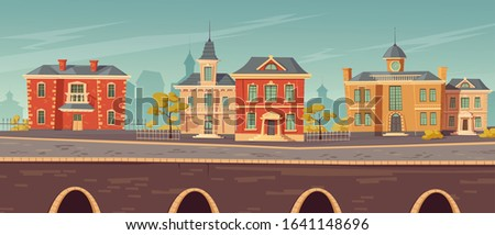 19th century town street with