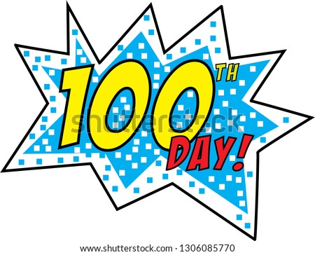 100 - Happy 100th Day Of School - Free Transparent PNG Clipart Images  Download