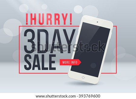 3th day sale banner. Sale and discounts. Vector illustration. Sale banner. Sale discount offer