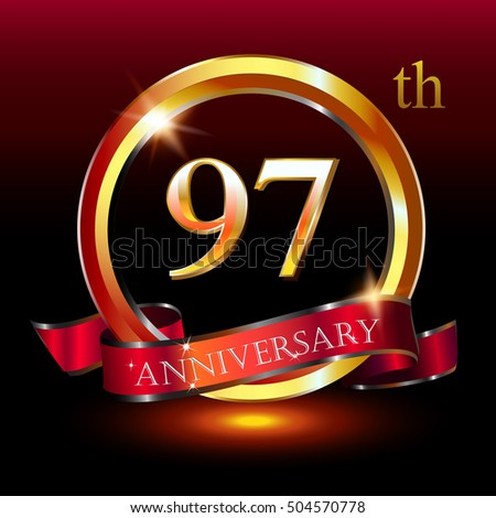 97th golden anniversary logo 97 years anniversary celebration with