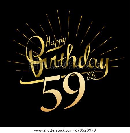 59th happy birthday logo