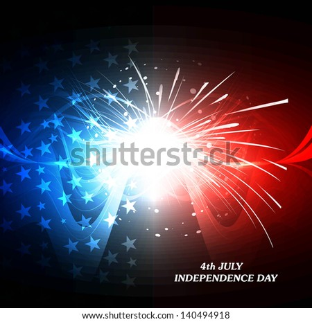 4th july american independence day bright colorful flag wave celebration background vector