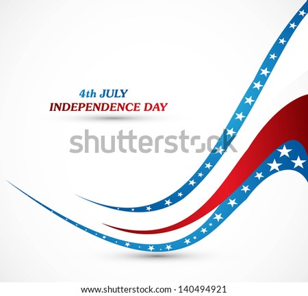 4th july american independence day fantastic wave whit background