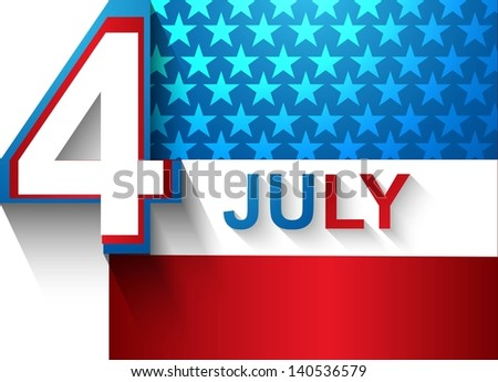 4th july american independence day flag background vector