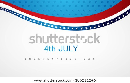 4th july american independence day stylish vector - stock vector