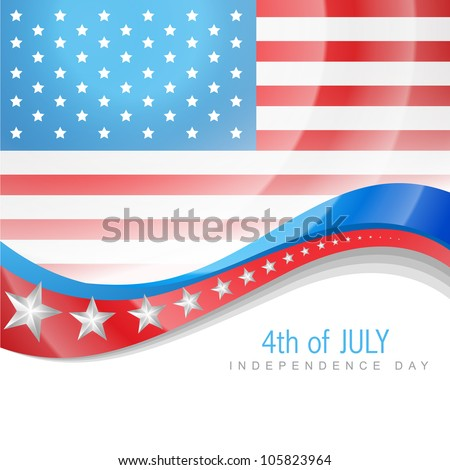 4th july american independence day vector