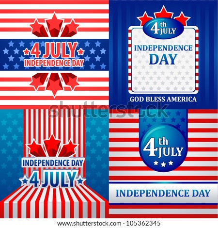 4th July American Independence Day vector design