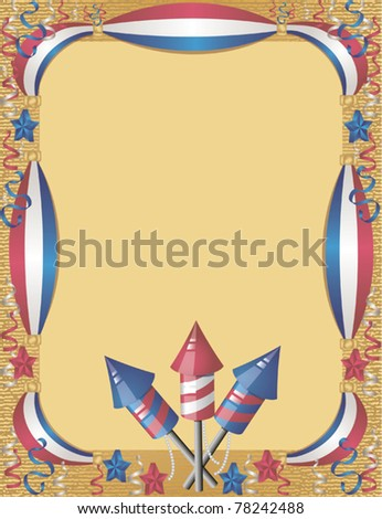 4th July greeting card