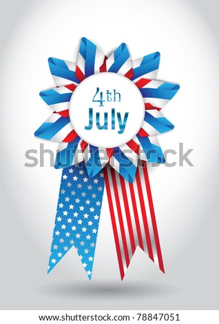 4th July Vector Ribbon