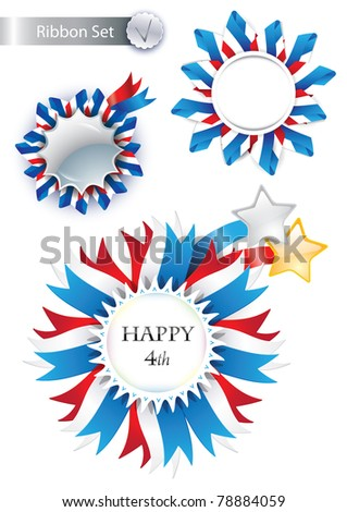 4th July Vector Ribbons very suitable for web site