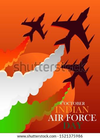 8th October Indian Air Force day,illustration in vector file