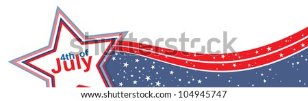 4th of july American independence day. Vector illustration, eps 10