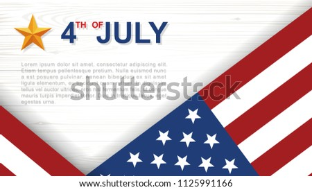 American flag on a wooden background - Download Free Vectors