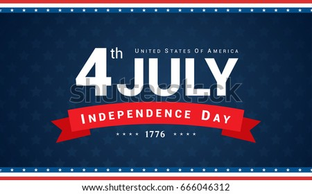 4th of july banner vector