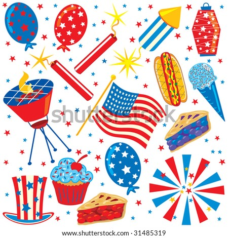 clip art 4th of july. 4th of July Clip art Party