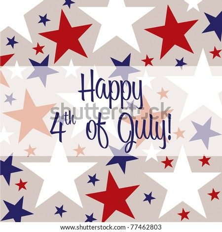 4th of July greeting card in vector format.