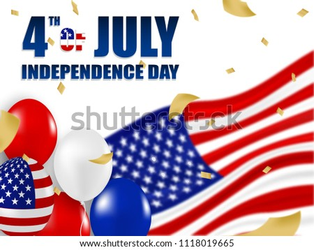 a2458089000 4th of July Happy Independence day USA. white