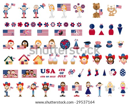 4th of july icons   part1
