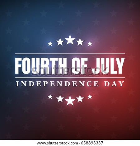 4th of July - Independence Day background design - Greeting Card #658893337