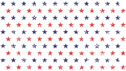 4th of July Stars Grunge Abstract Seamless Pattern, colored as USA Flag. Vector Illustration of Stars Grunge Background for Celebration Holiday American President Day, memorial day