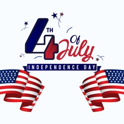 4th of july vector template. United states indepepndence day.