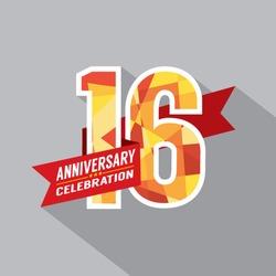 16th Years Anniversary Celebration Design