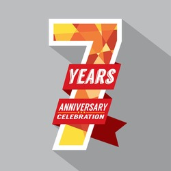 7th Years Anniversary Celebration Design