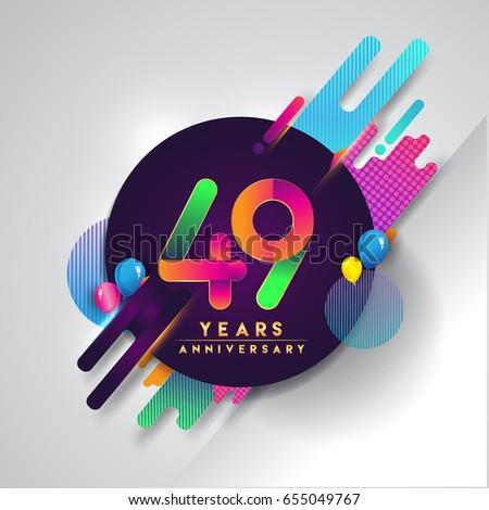 49th years anniversary logo