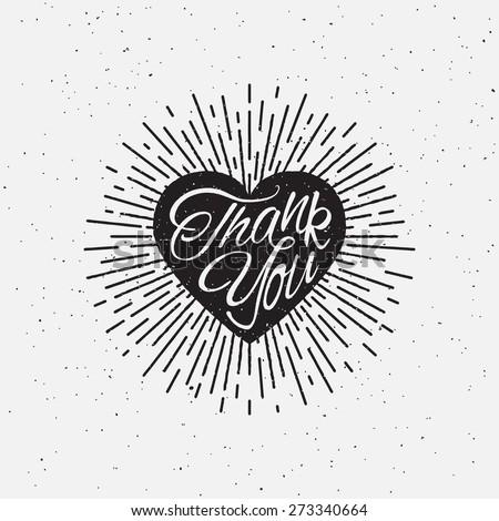 'thank you' vintage grunge hand