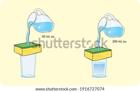 the amount of moisture humidity in the air precipitation heat and temperature science lesson Stok fotoğraf ©